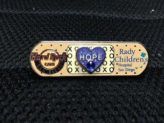 "The Rady's ""All Better"" pin. Partial proceed of pin sales help support Rady's Children's Hospital. #radys #allbetter #giveback"