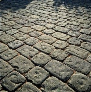 Brett Aura Square Stone rustic round edged cobblestone paving