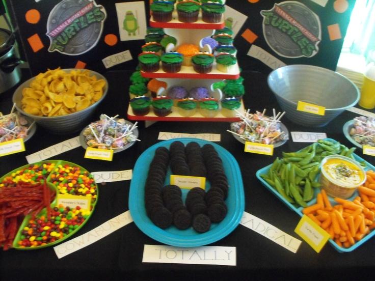 Ninja Turtle Party- Food   Dominic's birthday ideas ...