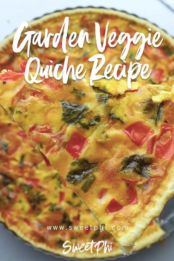 Garden Veggie Quiche Sweetphi Recipe Vegetarian Quiche Recipes Breakfast Quiche Recipes Vegetable Quiche Recipes