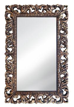 Винтажное Итальянское зеркало в декоративной раме Венге Золото