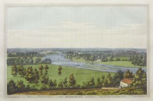 From Richmond Hill up the River. by Joseph Constantine Stadler after Joseph Faringdon