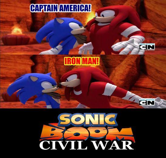 ~Sonic Boom~ ~Sonic~ ~Knuckles~ ~Marvel~ ~Captain America~ ~Iron Man~ ~Captain America: Civil War~