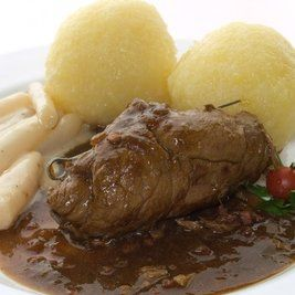German Rouladen / Beef Roll-Ups Recipe - An authentic recipe for this filled beef roll-up, make it on special occasions and your guests will be impressed, serve with Spätzle (German home-made noodles) or Knödel (German home-made dumplings) and Rotkohl (red cabbage).
