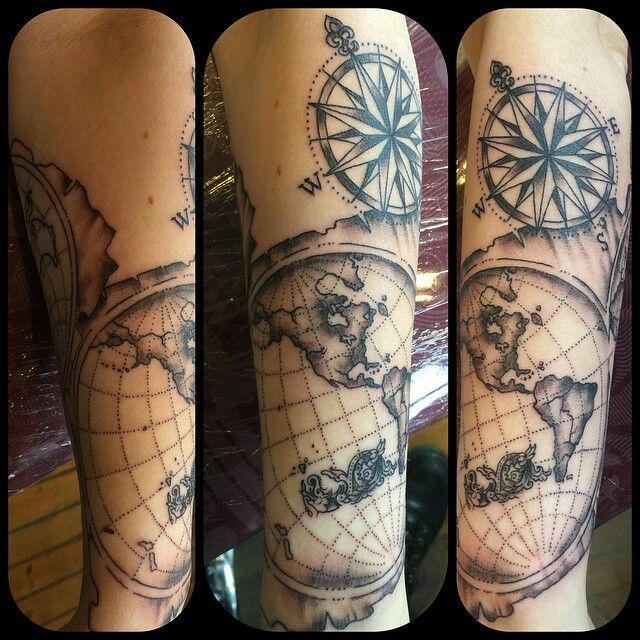 1000 images about maps on pinterest vintage maps for World map tattoos