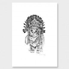Mr Kitty Art Print by Emmaline Bailey