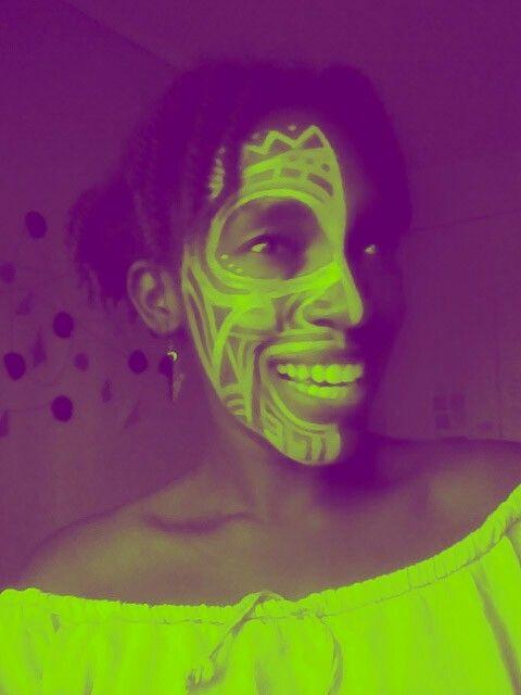 Tribal face paint by @ndimiuthandi