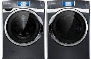 Amazon.com: Samsung Onyx Smart Control 4.5 Cu Ft Front Load Washer and 7.5 Cu Ft Steam ELECTRIC Dryer WF457ARGSGR DV457EVGSGR: Appliances
