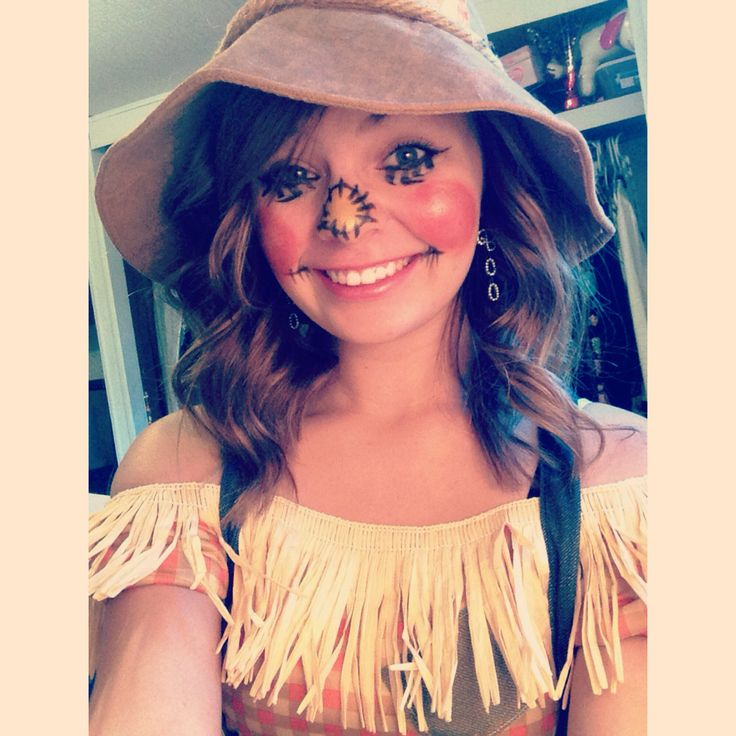 how to make a scarecrow face with makeup