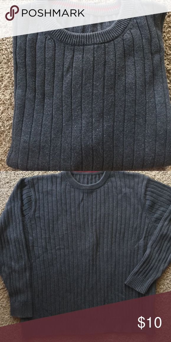 Mens crewneck sweater Grey -100% cotton knot sweater Sz XL missing tag Sweaters Crewneck