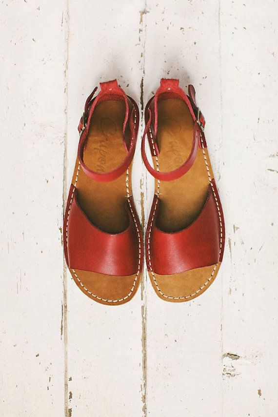 Sale 20% OFF: Marsala Women Sandals. Handmade Leather by Crupon