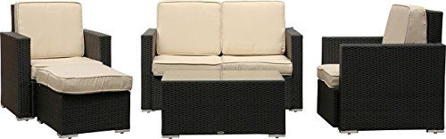 IB Style Sapphire Collection of Garden Furniture Rattan Black