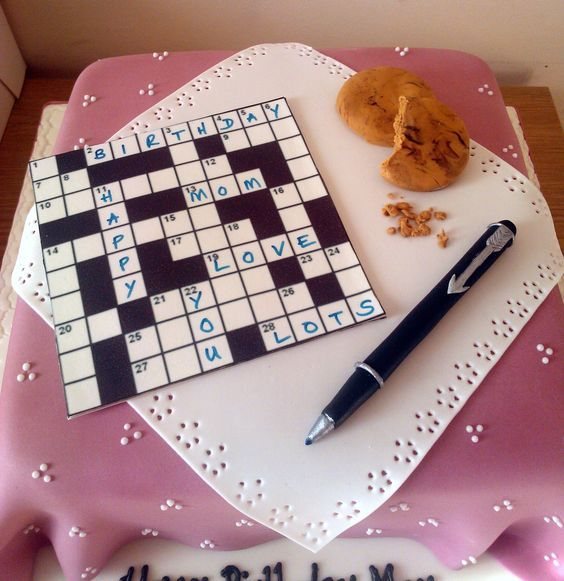 Crossword puzzle cake. The Puzzle Bakery Pinterest ...
