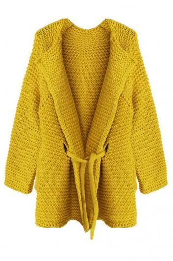 Pineapple knitted lace and long loose sweater coat