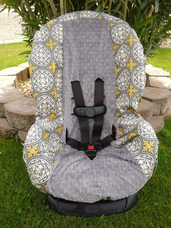 Aviary Scrollwork Granite with Charcoal Toddler Car by sewcuteinaz, $40.00