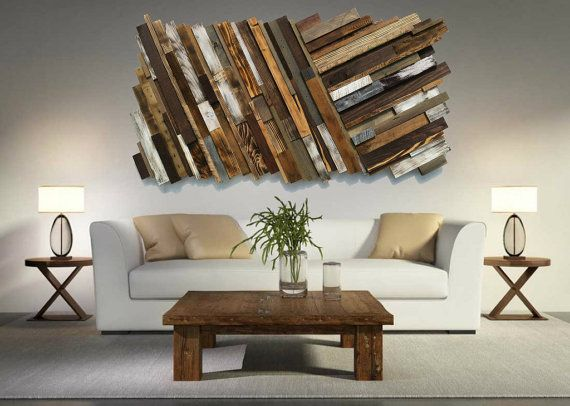 Reclaimed Wood Wall Art *FREE SHIPPING* Rustic Art, Abstract Wood Wall Art,  Pallet Wall Art, Barnwood Art, Modern Wood Art, Diagonal Art