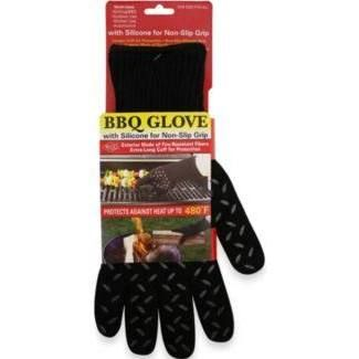 Barbecue Wonder Glove With Long Cuff In Black Oven Mitt