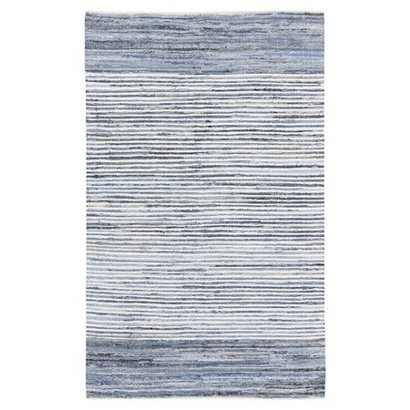 Add breezy style in the den or at the foot of your bed with this hand-loomed rug. Draw out its stripes with a white lamp or side chair, or let it bring a spl...