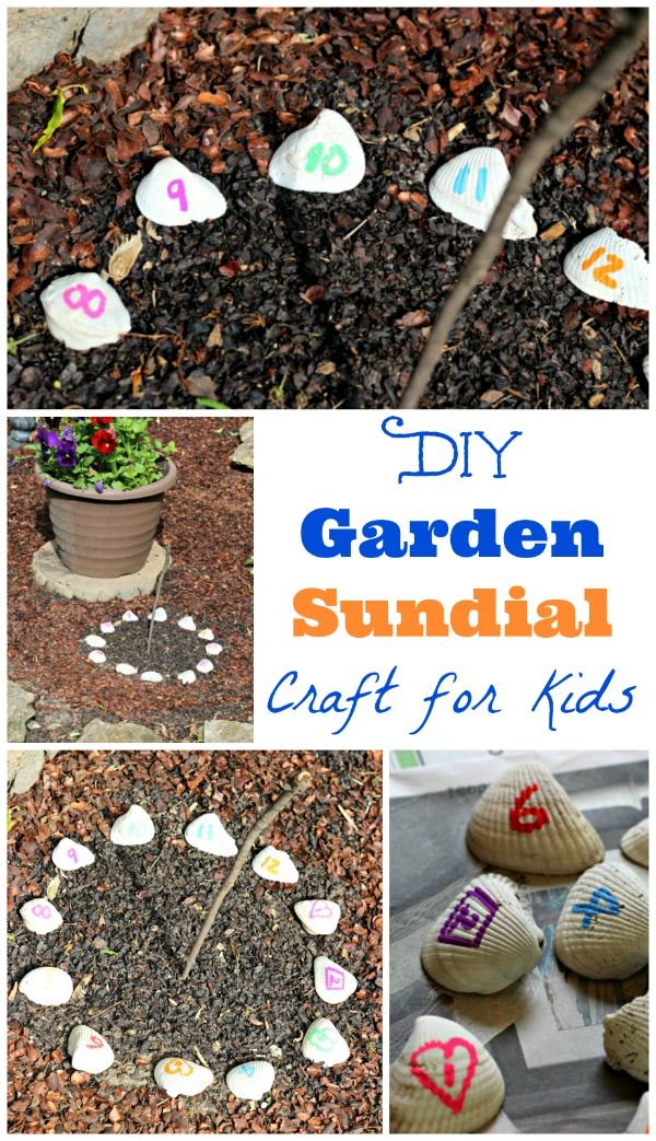 DIY Sundial - great outdoor craft and STEM activity for kids!  This would be a great summer activity to do!