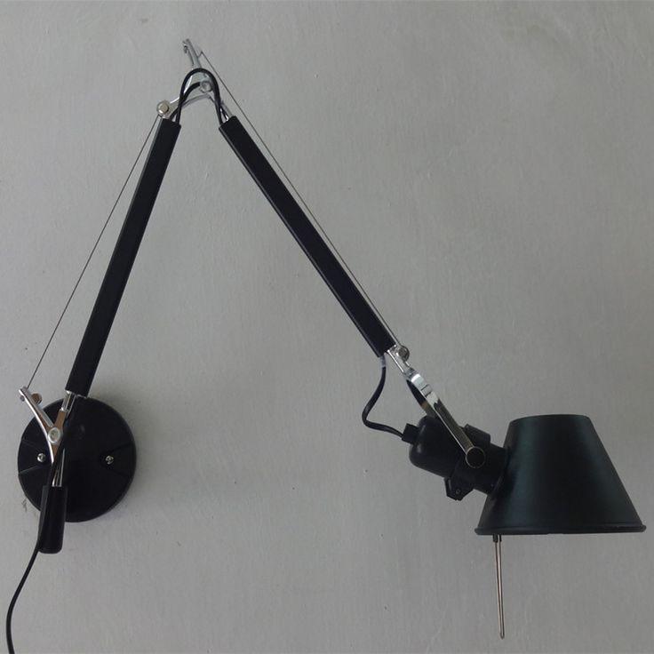 Led Light Fixtures Discount: Loft Style Decorative Wall Sconces Swing Arm Bedside Lamp