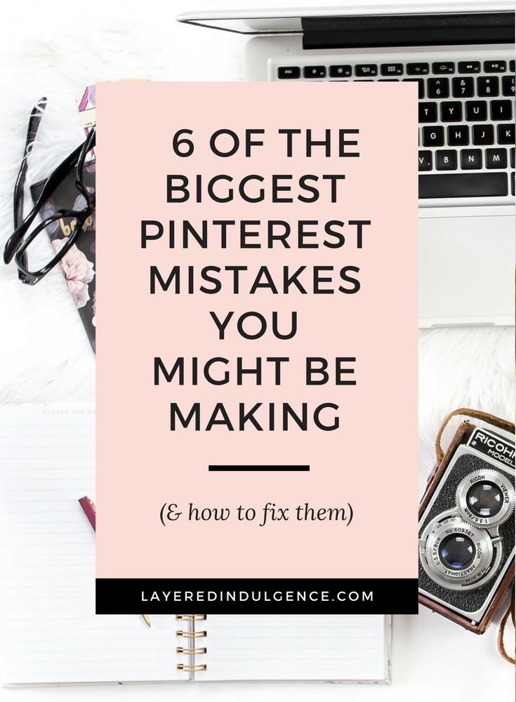 Are you stuck when it comes to learning about social media and Pinterest specifically? Check out this post to see 6 of the biggest Pinterest mistakes people make and figure out if you are making them too. You'll also find out how to fix them to get more f