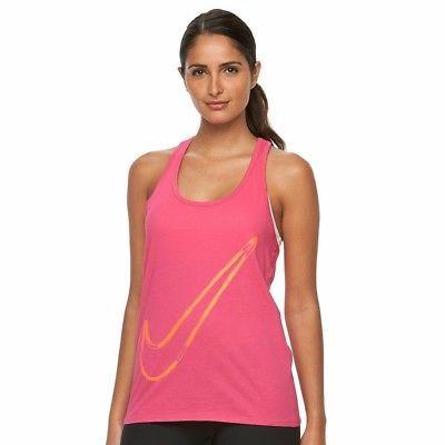 Nike Women's Sportswear Swoosh Racerback style 642775 Pink Orange Tank Size L