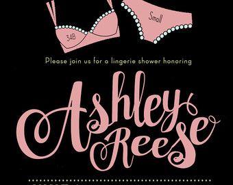 Lingerie Shower Invitation Lingerie Shower Invite by LaLunaDesigns