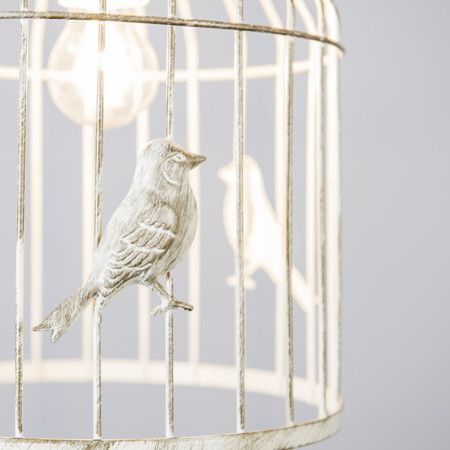 Lampa wisząca Birdcage biała