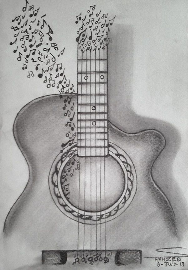40 Realistic 3d Pencil Sketches And Drawings On Paper Pencil Drawings Tumblr Music Drawings Art Drawings Simple