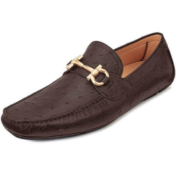 Salvatore Ferragamo Custom Parigi Driver featuring polyvore, men's fashion, men's shoes, dark brown, crocs mens shoes, mens crocodile shoes and salvatore ferragamo mens shoes #Men'sCrocsShoes