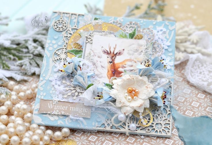 ScrapBerry's: a handmade  Christmas card, by  Julia Ostanovskaya, A Taste of Winter collection