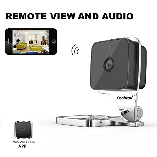 Conbrov WF90 HD Mini Wireless Wifi Indoor Home Security Nanny Camera Network IP Day Night Vision,Two-Way Audio ,Video Surveillance and Motion Activated Detection Cam * Want to know more, click on the image.
