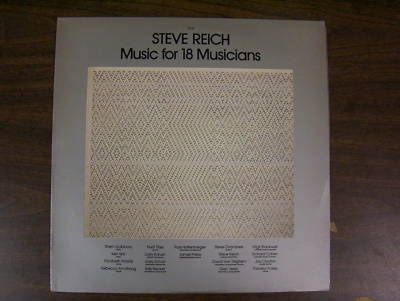 Steve Reich -  Music for 18 Musicians 1978 (Vinyl/Album)