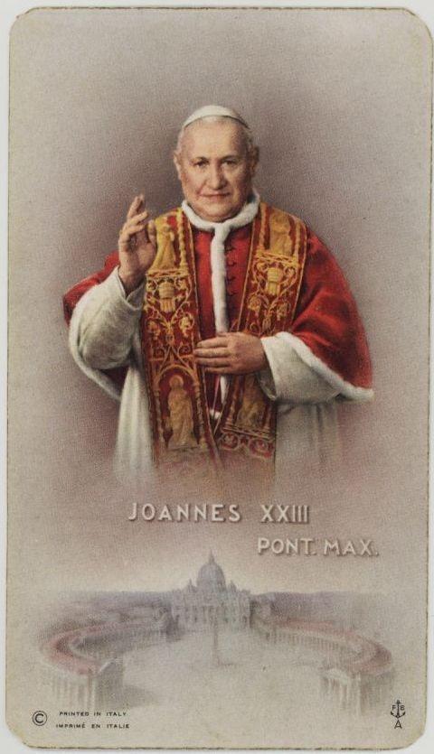 Pope John XXIII: Holy Cards, My Birthday
