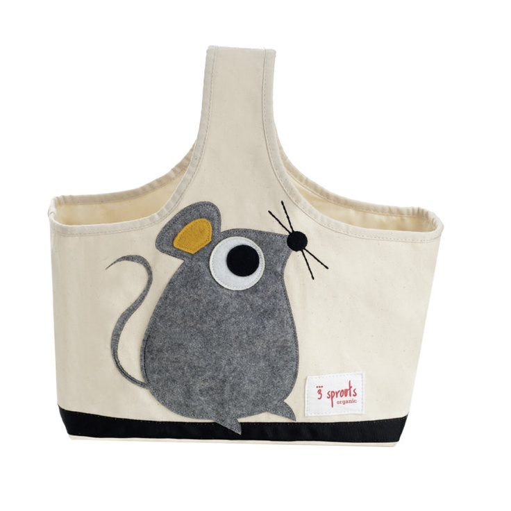 3 Sprouts Storage Caddy in Gray Mouse