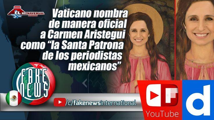"""Carmen Aristegui como """"la Santa Patrona de los periodistas mexicanos"""""""