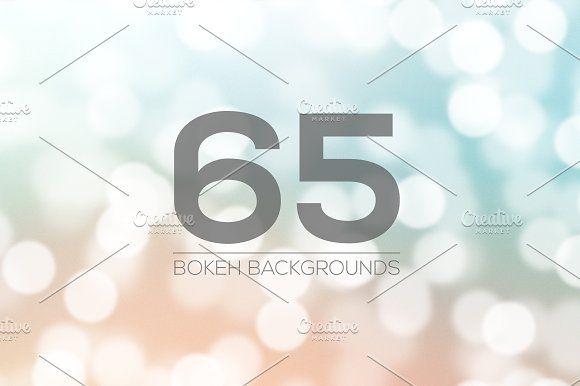 65 Bokeh Backgrounds by Jack_Piingu on @creativemarket
