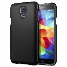 Forro Samsung Galaxy S5 Spigen SGP Ultra Fit Smooth Negra $ 40.700,00