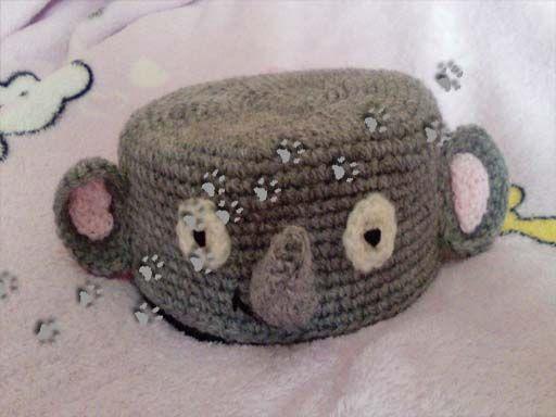 Cubre-cds elefante  (para ver más ir al blog) #crochet #ganchillo #lana #diy