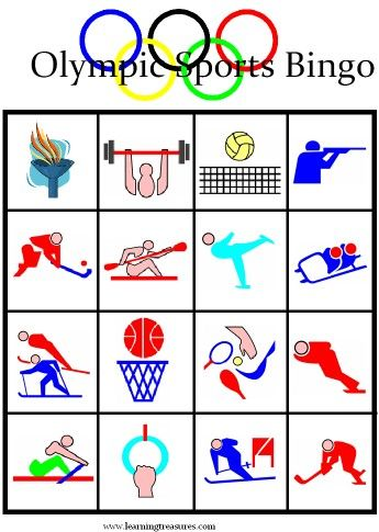 Olympic Games for Kids - Free Printable Bingo Boards#Repin By:Pinterest++ for iPad#