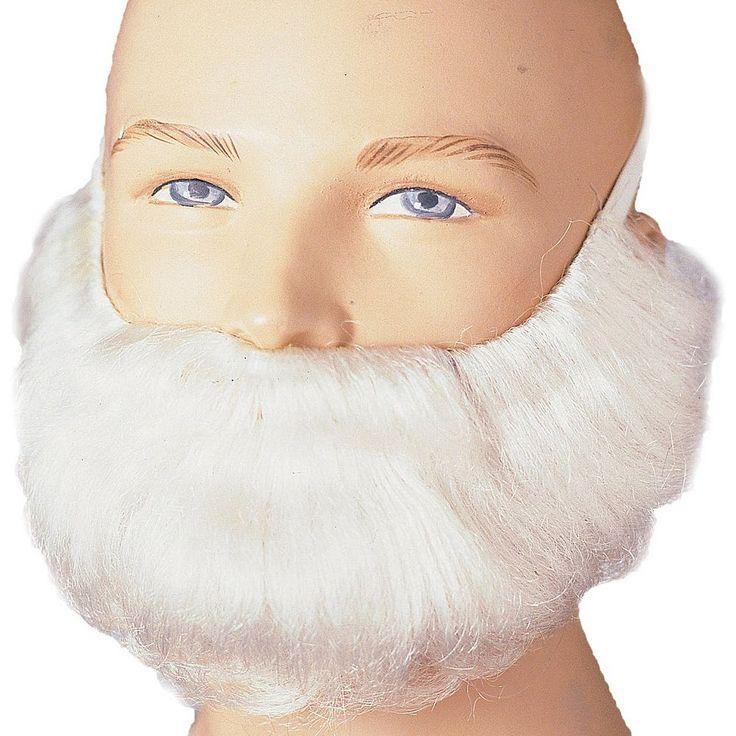 Adult White Costume Beard & Mustache, Men's