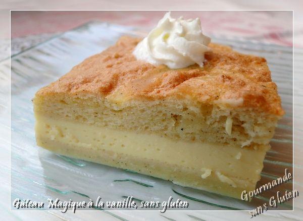 Gourmande sans gluten: Gâteau magique à la vanille, version sans gluten