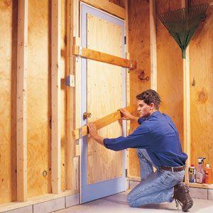 How to Burglar-proof a Garage Service Door.
