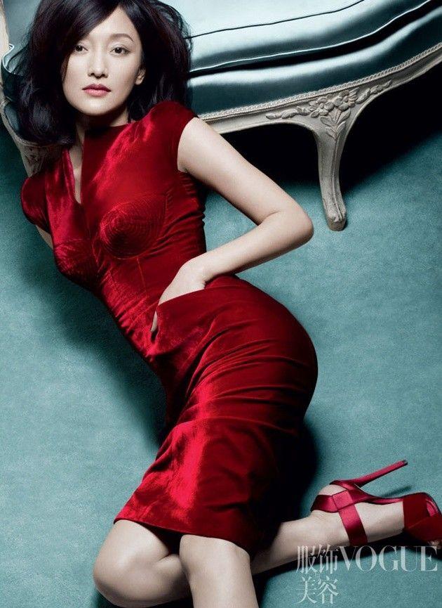 Foto Zhou Xun untuk Majalah Vogue Cina