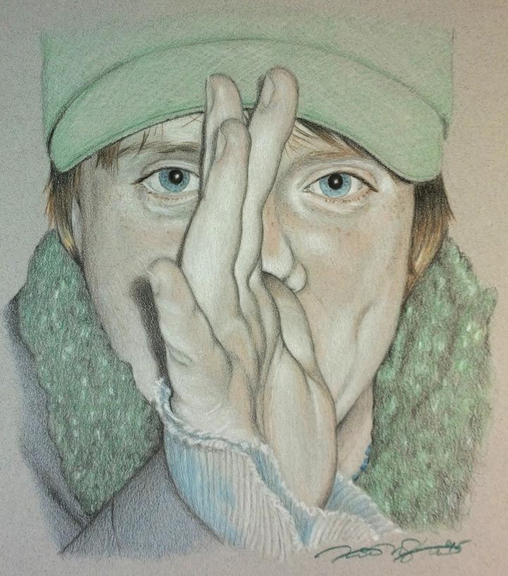 """Fred"" Colour Pencil & Pastel on Grey Stock ~ Drawn by: Michael P. McIntee"