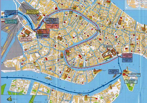 Stadtplan von Venedig