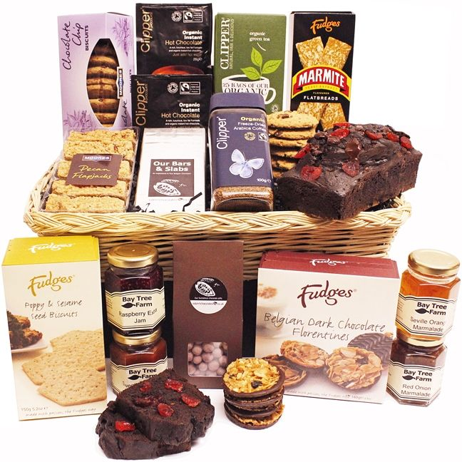 Marshwood Hamper  The Marshwood Hamper. A wonderful selection of delicious foods including our famous handmade Double Chocolate Cherry Cake. Perfect for all your gifting needs at any time of year.
