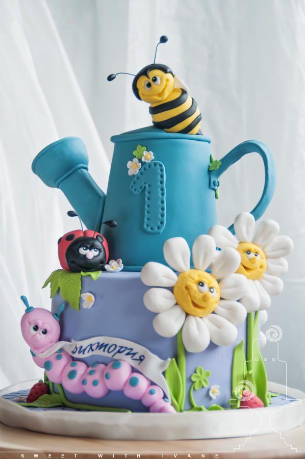 Garden Cake Ideas 471 best garden cakes images on pinterest garden cakes flower cute garden bugs cake by sweetwithivane workwithnaturefo