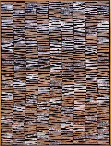 RIVER MAN 5/4 by David Roach Australian hardwood palings, oil, wax pigment on board.                                                       120 x 90 cm $3,300 - SOLD -