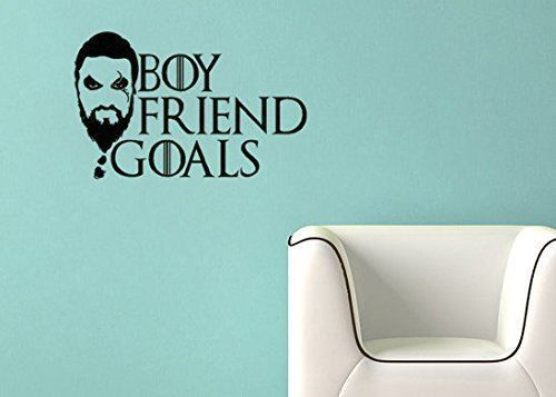 Game of Thrones Inspired Parody Khal Drago Boyfriend Goals Wall Decal Sticker #LuckyGirlDecals #beautiful #budget #custom #cute #decal #decals #decor #decorating #design #family #fun #gifts #graphics #happy #home #homedecor #interiordecorating #interiordesign #lettering #letters #love #luckygirldecals #oracal631 #personalized #pretty #quote #quotes #remarkablewalls #sticker #stickers #style #vinyl #vinyldecal #vinylfilm #vinylwalldecal #wall #wallart #walldecal #walldecor #wallquote…
